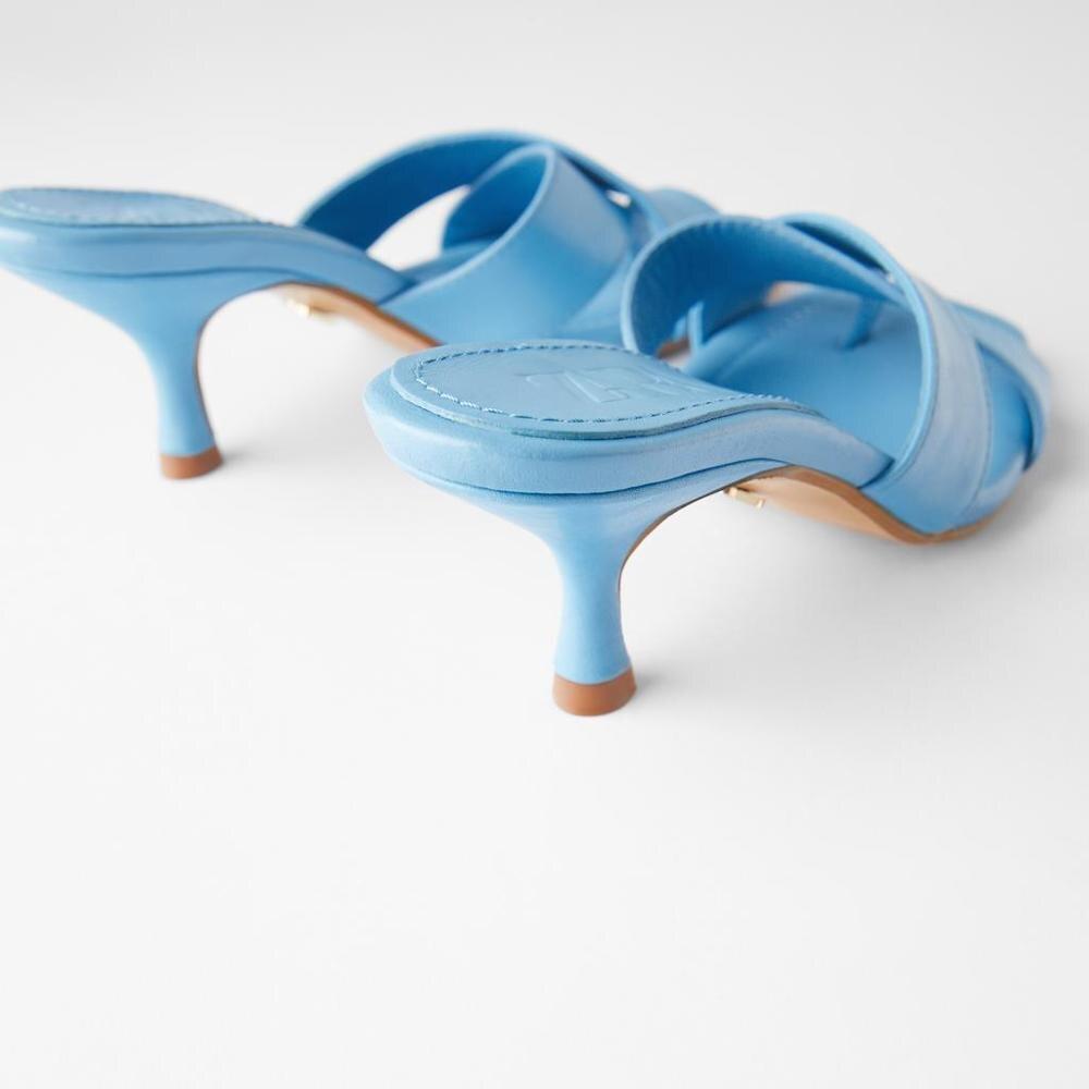 Chinelos femininos 2020 verão nova senhora salto alto slider sandálias fora de couro thoung feminino slider sandálias verão