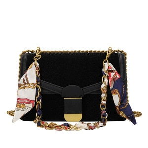 Women Bags Fashion Serpentine Pattern Casual Shoulder Purses Scarves Hasp Crossbody Handbags Magnetic Buckle Small Square Bag