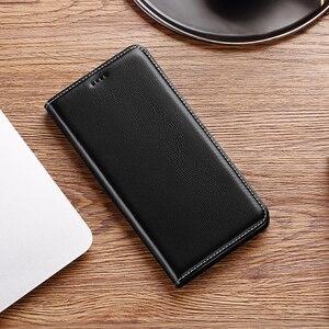 Чехол-книжка из натуральной кожи для Xiaomi Poco M2 M3 C3 Pro