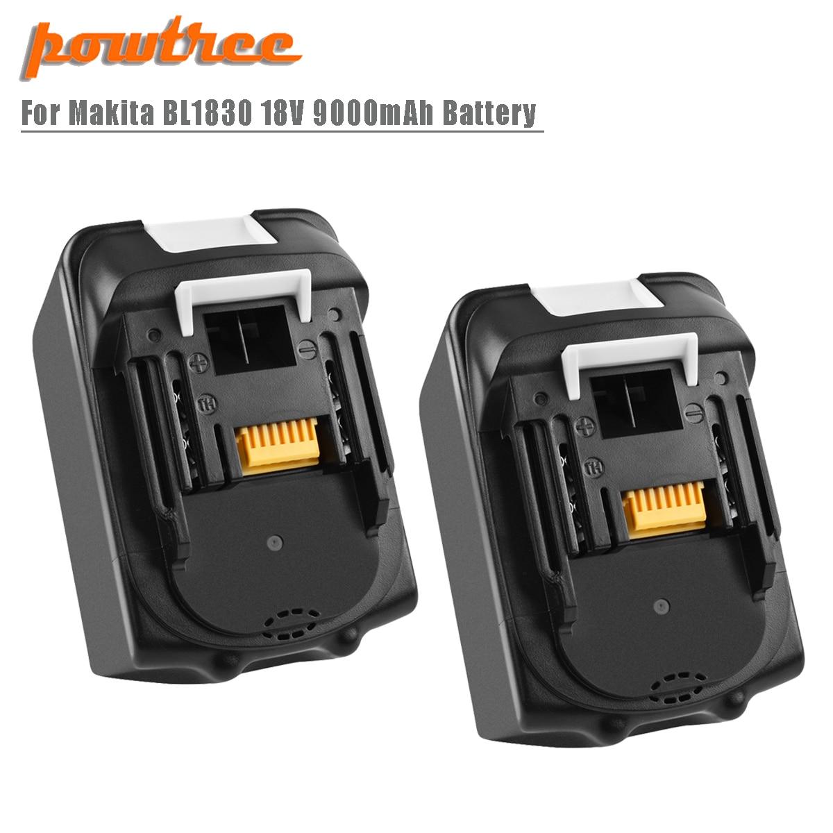 Powtree para Makita de alta capacidad 9000mAh BL1830 de reemplazo de la batería de litio LXT400 BL1815 BL1840 BL1850 BL1860 L30