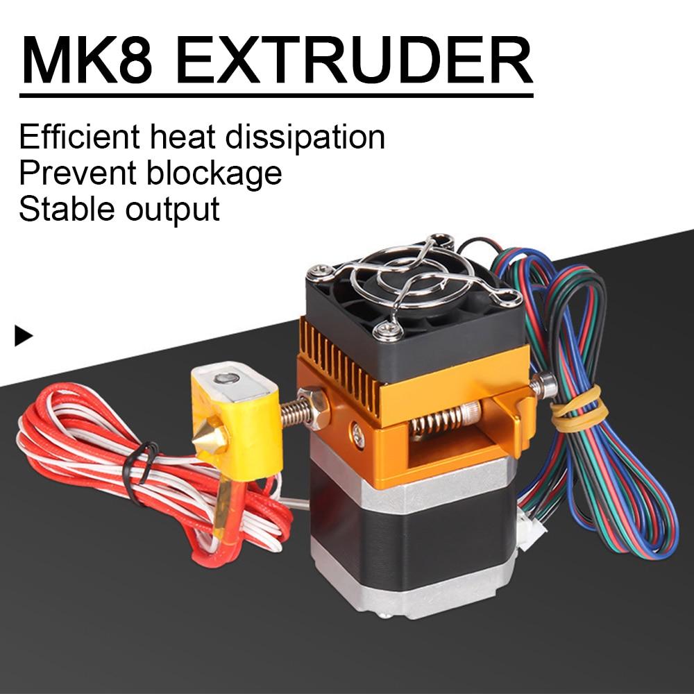 MK8 الطارد كامل المعادن 0.4 مللي متر فوهة طباعة رئيس 1.75 مللي متر خيوط ل Prusa i3 لتقوم بها بنفسك طابعة ثلاثية الأبعاد ترقية الملحقات
