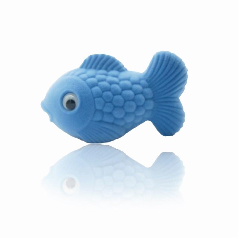 HOSENG 30Pcs Blue and Pink Ring Box Luxury Cute Fish Animal Velvet Case Women Creative Storage Jewelry Packaging HS_330