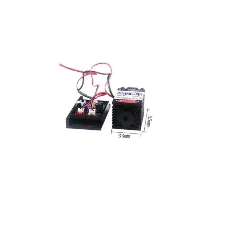808 нм 500 мВт 12 В фокусируемый почти ИК инфракрасный лазер диод модуль ночное видение безопасность лазер