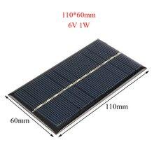 6V 130mA panneau solaire silicium polycristallin bricolage chargeur de batterie petit Mini cellule solaire Volt chargeur de téléphone Portable