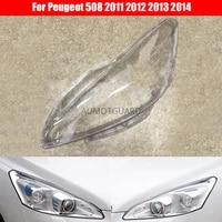 car headlamp lens for peugeot 508 2011 2012 2013 2014 car headlight headlamp lens auto shell cover