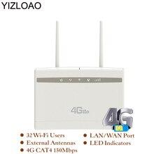 YIZLOAO 4G 라우터/CPE Wifi 중계기/모뎀 광대역 SIM Solt Wi fi 라우터 게이트웨이 PK Huawei B525 Xiaomi/mi ZTE 라우터