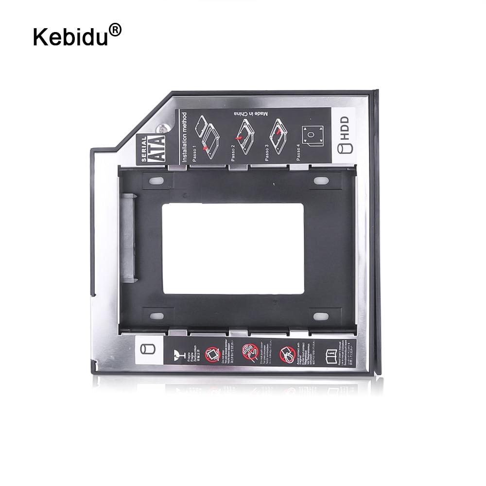 "Kebidu universal sata 3.0 2nd hdd caddy 9.5mm, para 2.5 ""ssd, gabinete hdd com led para laptop dvd cd rom"
