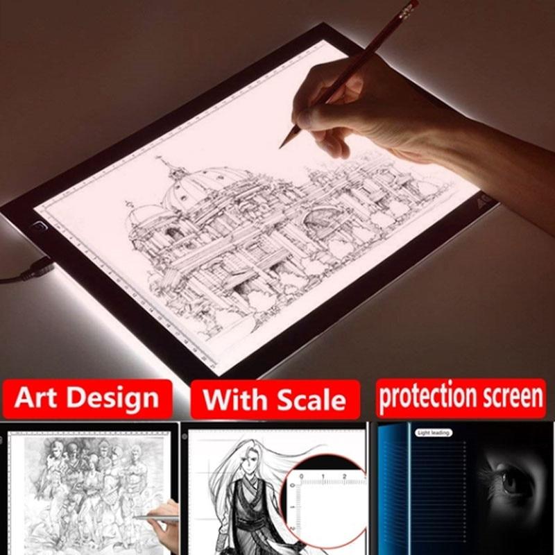 12 polegada Tablet Gráfico Digital LED Artista Fina Arte Stencil Prancheta Escrita Caixa De Luz De Rastreamento Eletrônico Portátil Tablet Pad