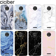 ciciber Marble for Motorola Moto C Z2 Z3 ONE P30 G4 G5 G5S G6 E3 E4 E5 Play Plus Power M X4 Cover Soft Clear TPU Phone Cases