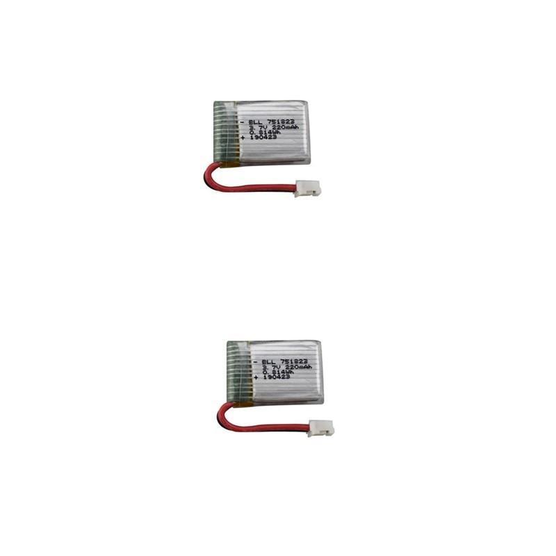 2 uds 3,7 V 220mah de la batería de litio para Eachine E010 GoolRC T36 NINHUI NH010 F36 H36 Holy Stone HS210 Dron remoto Accesorios