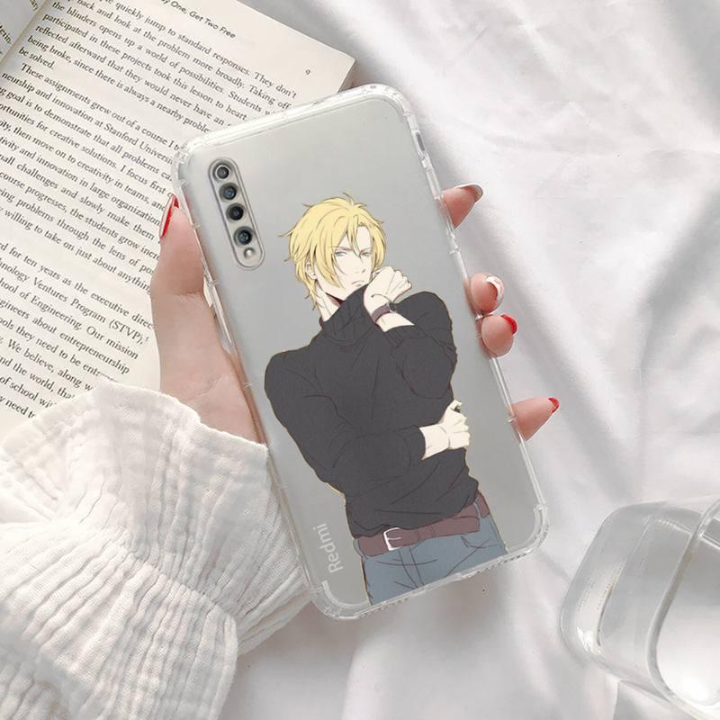Anime Banana Fish Phone Case Transparent For Xiaomi Redmi K30 10T 10X 9 9A 8 8A 7 7A 6 K40 T S PRO 5G