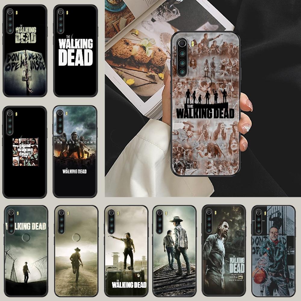 Телевизор-с-изображениями-из-сериала-«Ходячие-мертвецы»-чехол-для-телефона-xiaomi-redmi-note-7-7a-8-8t-9-9a-9s-10-k30-pro-ultra-black-арт-кухонные-шкафы-hoesjes-Мода