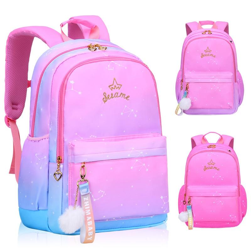 مقاوم للماء الأطفال الحقائب المدرسية للفتيات الابتدائية الأميرة حقيبة المدرسة العظام حقائب مدرسية للأطفال Mochila Infantil