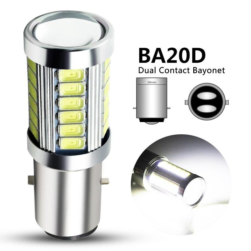 1x H6 BA20D светодиодный мотоциклетный головной светильник Hi/Lo луч мотоцикл BA20D светодиодный Скутер ATV светильник H6 моторный светильник фары DRL светильник s