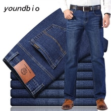 Jeans New 2021 Autumn Cotton Men's Stretch Jeans Classic Style Fashion Casual Business Casual New St