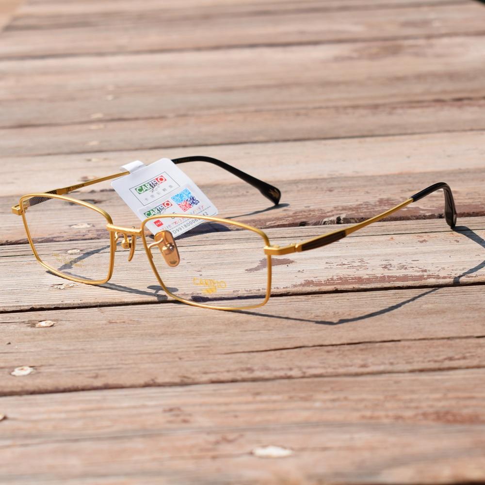 نظارات فاخرة من التيتانيوم الخالص عيار 18 قيراط ، نظارات بإطار كامل ، نظارات بصرية Rx للرجال