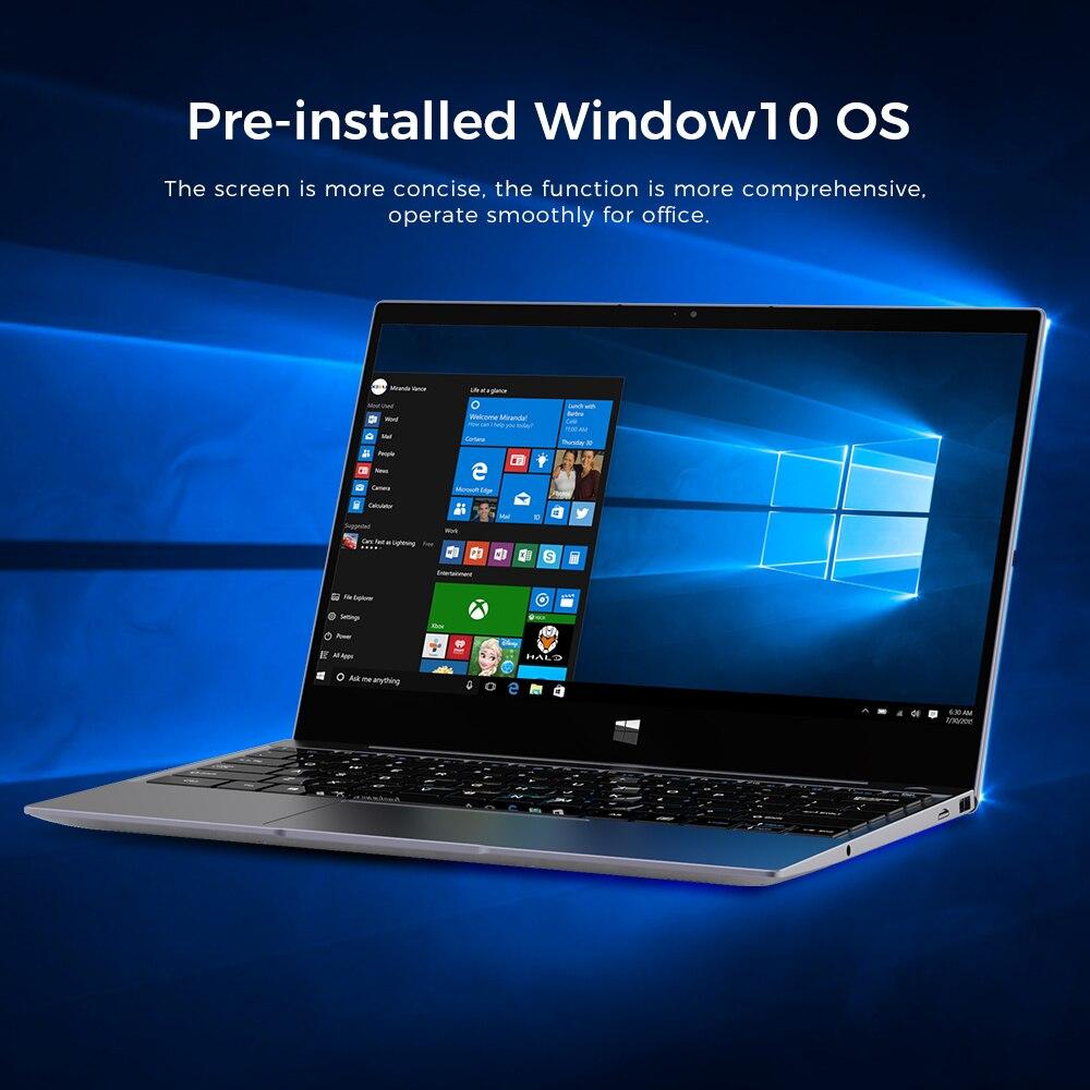XIDU Laptop Window 10 OS Intel Processor 8GB RAM 128GB ROM SSD 2560X1440 Resolution Notebook For Business Touchscreen PC Tablet