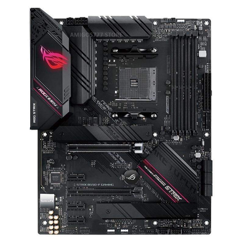 Socket AM4 Asus ROG STRIX B550-F GAMING Motherboard Support 3rd-Gen AMD Ryzen DDR4 128GB PCI-E 4.0 B550 Gaming Placa-mãe AM4 CPU