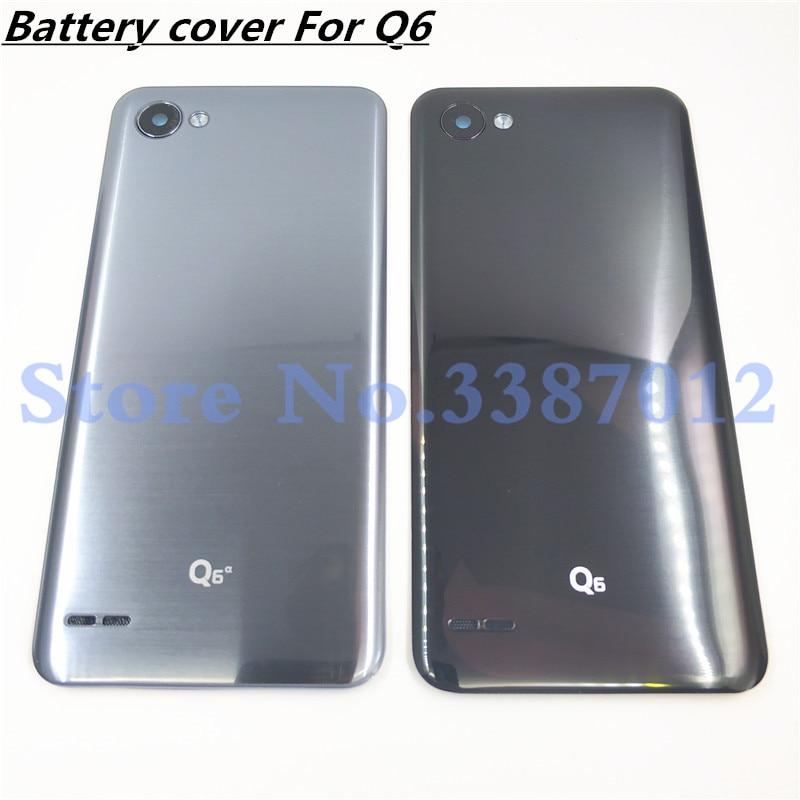 Новый оригинальный пластиковый чехол на батарейку для LG Q6, задний Чехол на заднюю панель с объективом для камеры Q6, запасная часть