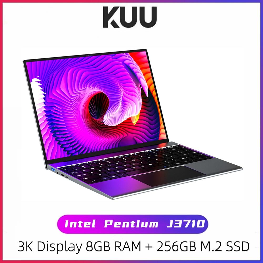 KUU YOBOOK All Metal 13.5 Inch 3K IPS Screen Intel Pentium Quad Core Laptop Backlit Keyboard Windows 10 Student Office Notebook