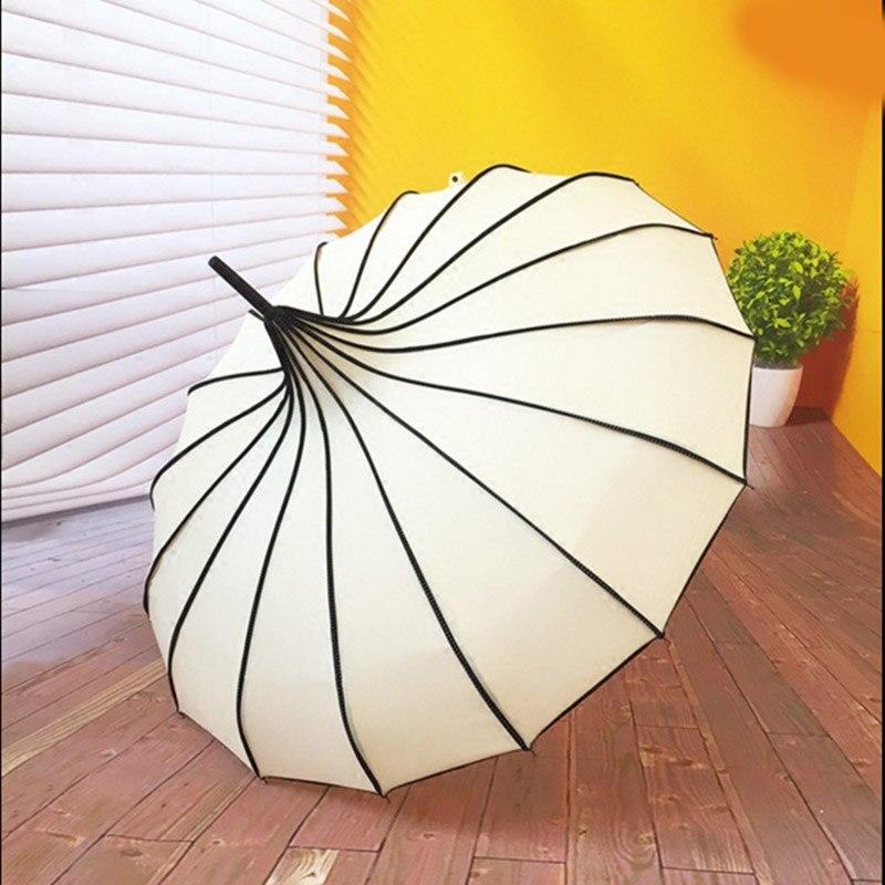 Vintage Pagoda Umbrella Bridal Wedding Party Sun Rain UV Protective Umbrella I88 #1