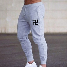 Swastika hommes pantalon maigre course pantalons de survêtement vêtements de sport Joggers collants hommes sport Fitness pantalon 2019 hommes élastique coton pantalon