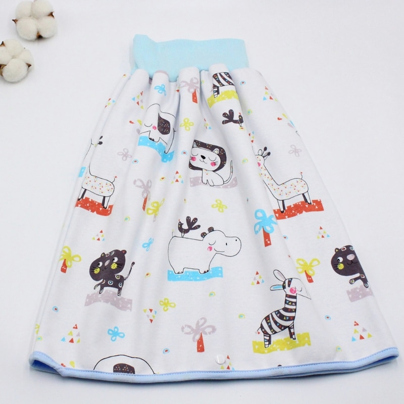 Premium Quality Baby Diaper Training Skirt Cotton High Waist Waterproof Diaper Skirt Children Baby Cloth Diaper Urination Skirt baby cloth diaper sprayer system with copper inside attached in the toilet high speed water easy to wash soiled cloth diaper
