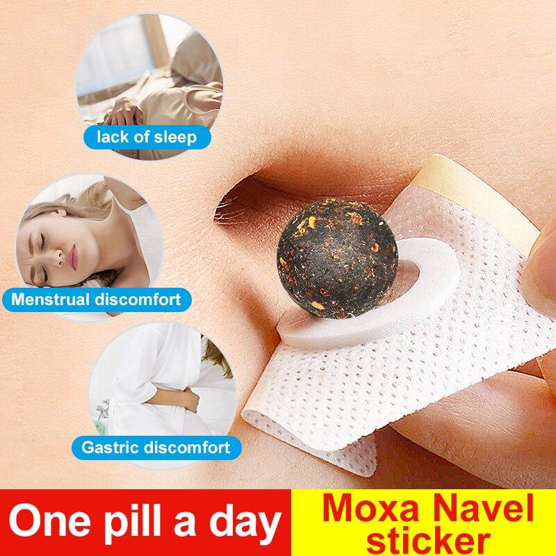 Cofoe 30 Uds moxibustión Moxa pegatina de ombligo medicina china cuidado de la salud cálido para útero y estómago pie eliminar el veneno húmedo