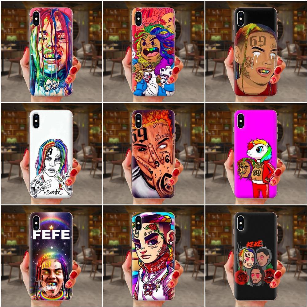 TPU caso cantante de Rap 6ix9ine para Huawei Honor 5C 5X 6A 6X 7 7A 7X 8 8A 8S 8X 9 10 30 Lite Pro Y6 II Y7 Y9 primer 2019