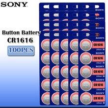 Sony – batterie Lithium 3V 100 originale pour clé de voiture, montre, télécommande, jouet, ECR1616 GPCR1616, pièce de monnaie, 1616 pièces, 100%