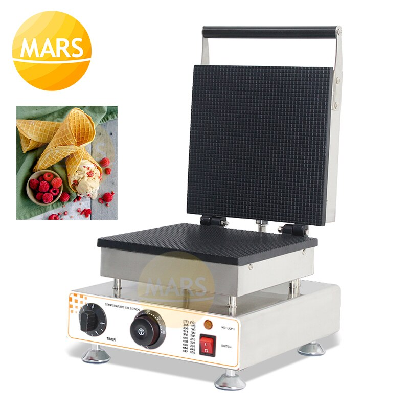 Comercial no-stick 110V/220V cono de helado Waffle del fabricante cono Baker /Waffle cono de Maker/máquina de conos de gofres