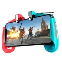 new ak16 pubg gaming gadget alloy trigger the screen does not block button mobile phone universal contrast color