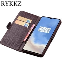 rykkz for oneplus 7t pro luxury wallet genuine leather case stand flip card hold phone book cover bags for oneplus 6 6t 7 case