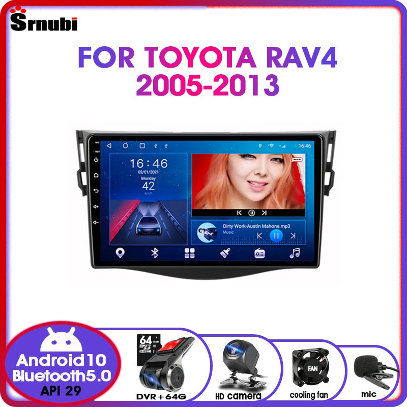 eunavi 2 din universal android 10 car multimedia player auto dvd radio stereo gps navigation audio tef7708 4g wifi dsp rds usb Android 10.0 2 Din IPS car radio For Toyota RAV4 2005-2013 RDS DSP 48EQ GPS navigation multimedia video player 4G net WIFI DVD