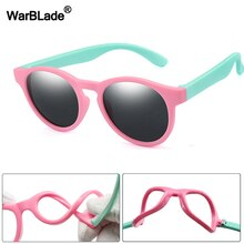 WarBlade 2020 New Kids Polarized Sunglasses Round Children Sun Glasses Boys Girl Safety Glasses Baby