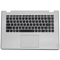 laptop parts for lenovo yoga 3 14 yoga3 14 white palmrest with black backlit germany keyboard and touchpad 5cb0h35666