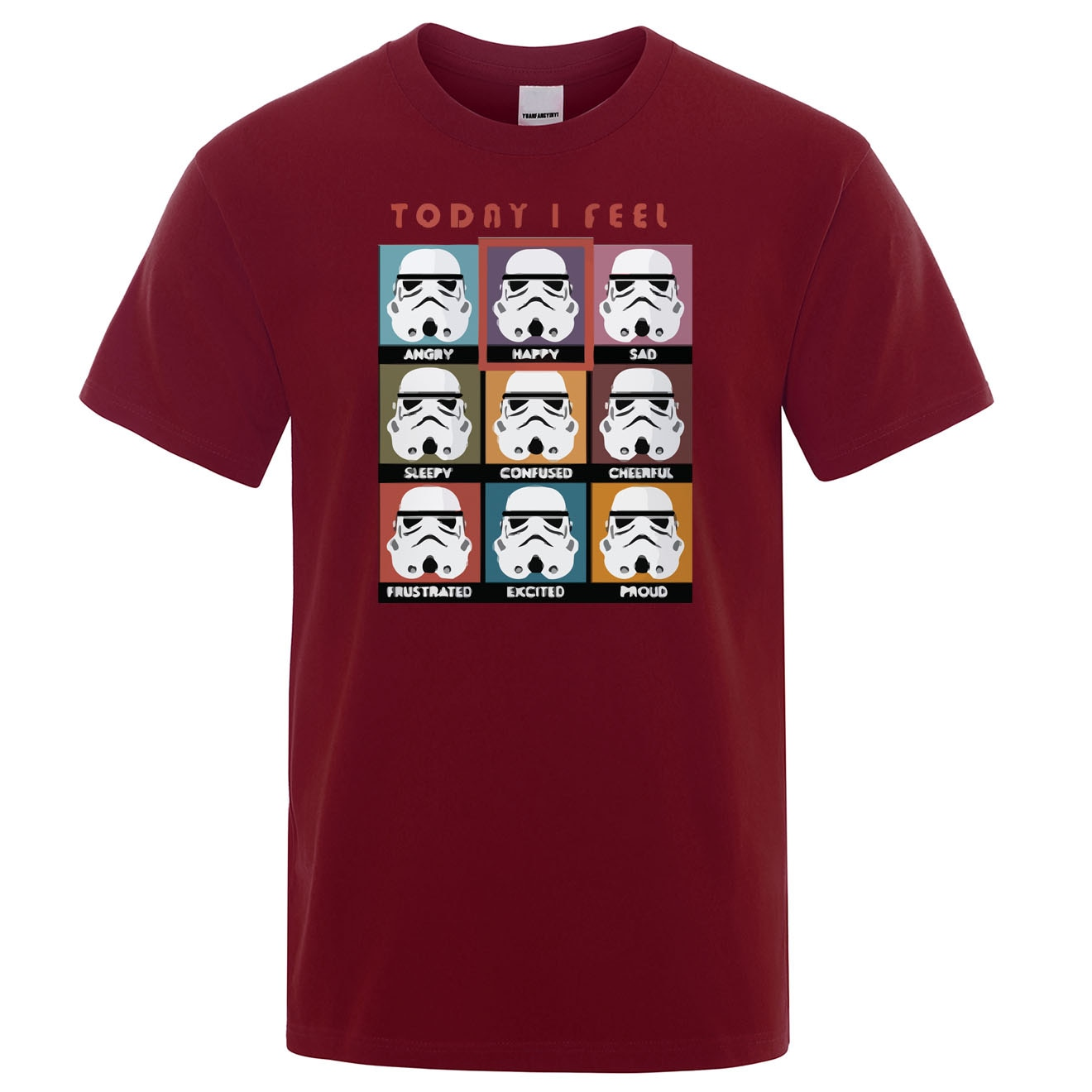 Camiseta I Fell Today Star Wars divertida camiseta estampada Stormtrooper Emotions hombres camiseta 2019 verano algodón Hip Hop Harajuku Top Tees