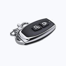 جهاز تحكم عن بعد لاسلكي للتعلم 433 ميجا هرتز مزود بضوء أزرق جهاز تحكم عن بعد معدني للتعلم 433.92 ميجا هرتز للأدوات باب المرآب المنزلي للسيارات
