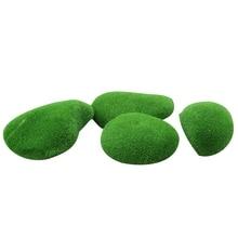 20 шт микро-ландшафт Сказочный Сад, украшение из миниатюра, Искусственный мох зеленый шар газон Mossy камень модель игрушки сделай сам