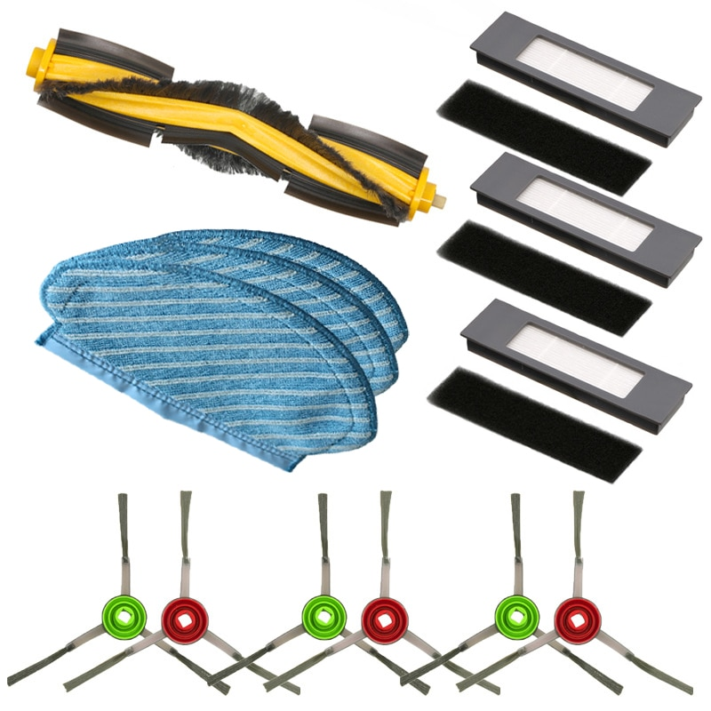 Main Side Brush Water Tank Castor Wheel Hepa Filter for Ilife V7S Cleaner Sparts Parts Kits Roller Vacuum Cleaner Accessories
