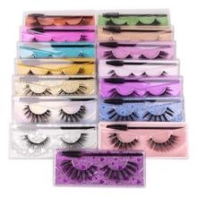 1 Pair 3D Faux Mink Eyelashes Natural Long Eyelashes For Beginners Mature Eye Makeup Tools Wispy Flu