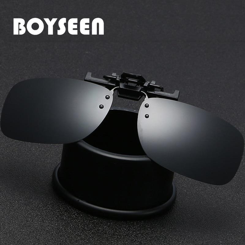 BOYSEEN Polarized Sun Glasses Clip On Sunglasses Online 3 Size Driving Night Vision Lenses Plastic Case, Anti-UVA Shades 203