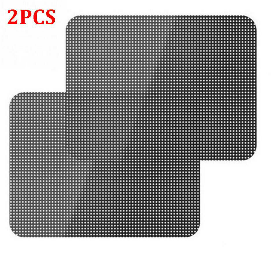 "2 x alta calidad 28 ""x 20"" PVC negro coche ventana lateral parasol cubierta película protectora"