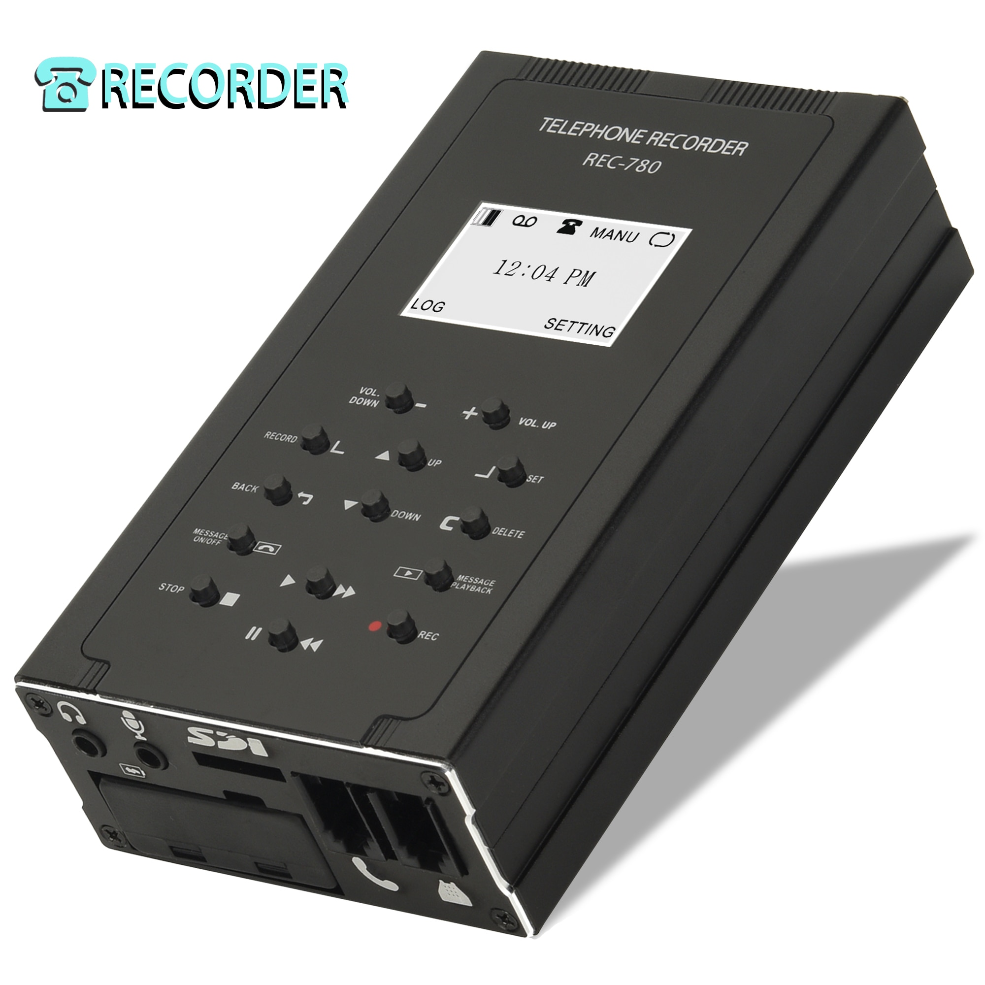 Landline Phone Call Recorder Automatic/Manual Telephone Calls Recording Device Compatible with digital/analog/IP phone enlarge