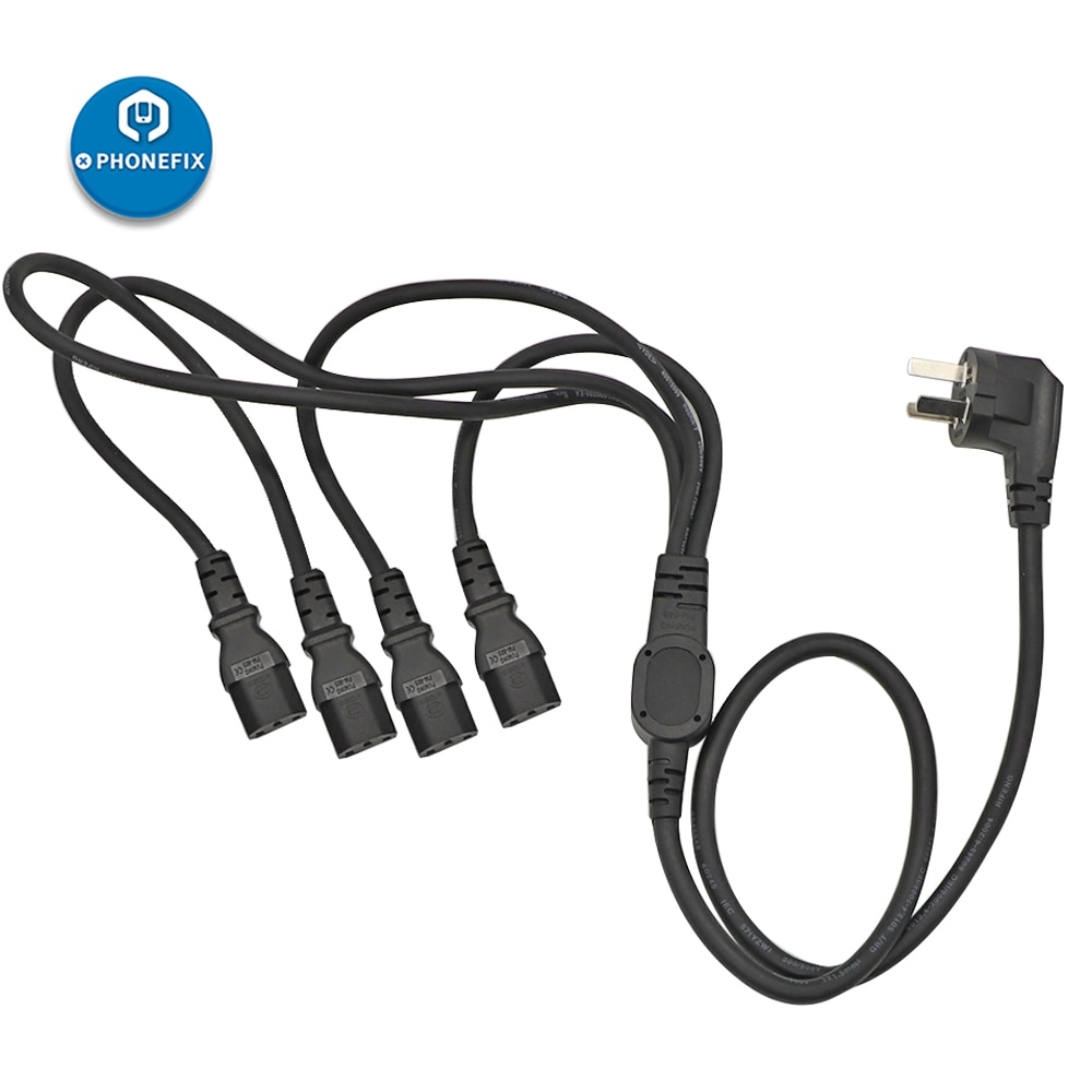 QianLi Универсальный 4 в 1 УДЛИНИТЕЛЬ шнур питания переменного тока провод розетка для паяльной станции компьютера ноутбука DC источник питания