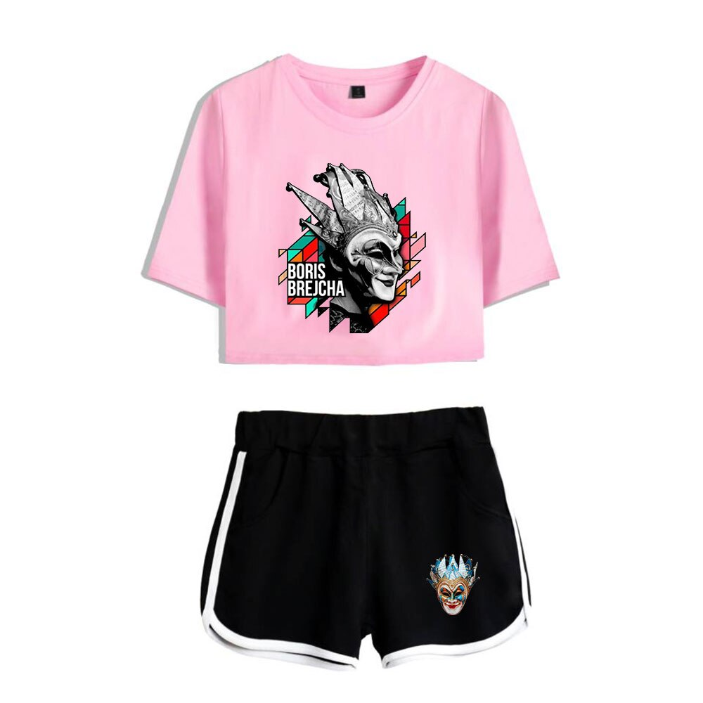 Print Boris Brejcha ing Trendy Women Shorts suit Summer Fashion Shirt And Shorts Boris Brejcha dj Kpop Sexy Trend Casual Clothes