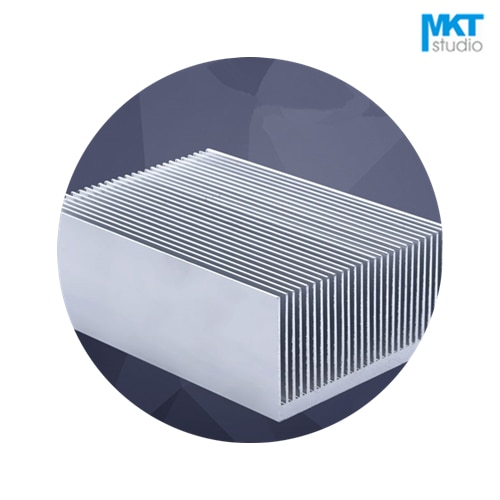 1Pcs Comb Type 69mmx69mmx36mm Aluminum Alloy Cooling Fin Radiator Heat Sink For TO-3P, MOS, IC, Amplifier, Power