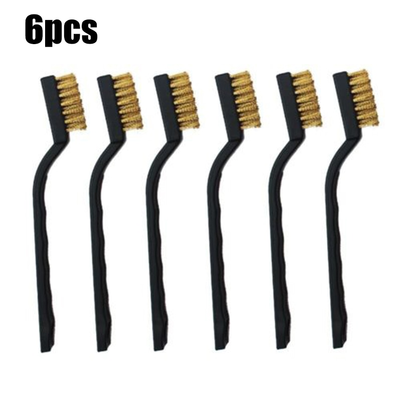6pcs/set 170 Mm Mini Metal Remove Rust Brushes Brass Cleaning Polishing Detail Metal Brushes Cleaning Tools Home Kits