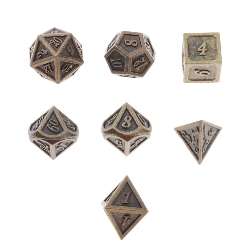 Набор многогранных кубиков, 7 шт., кубик для настольной игры для ролевых игр, игры в настольную игру