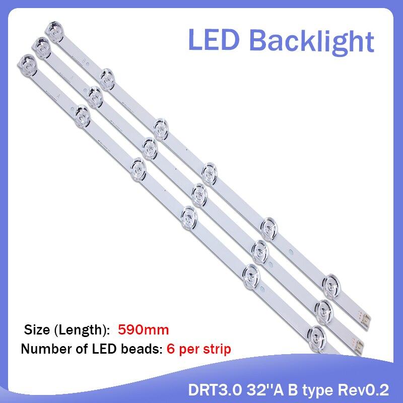 "100%new 590mm LED backlight 6LEDs for LG innotek drt 3.0 32""_A/B 6916l-1974A 1975A 1981A lv320DUE 32LF5800 SUNG WEI 55VO E74739"